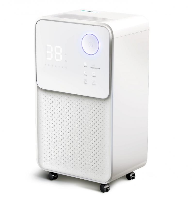 Dezumidificator pentru camera lui bebe AlecoAir D12 ECO, 12l/24h, uscare rufe, ionizare, display digital, higrostat, timer, debit 120 mc/h de calitate